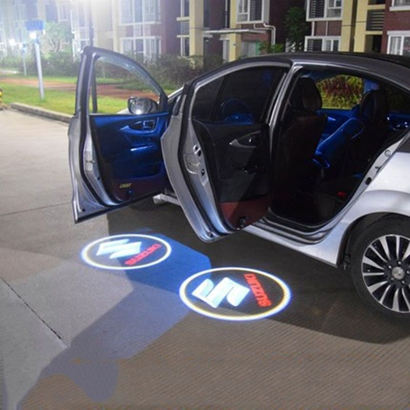 2pcs Car Door Logo Projection Light Suzuki
