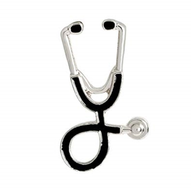 1 Pc Creative Stethoscope Style Brooch Pin