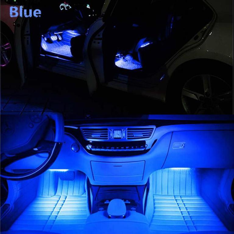 Car Interior Atmosphere Light Decor Lamp Remote Control With Music Sensor