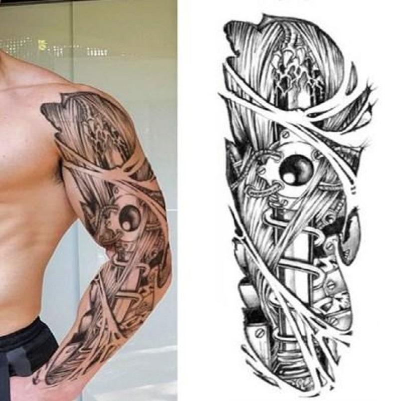 Full Arm Eye Temporary Tattoo