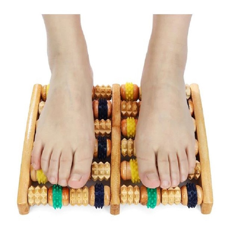 Colorful Massage Roller Wooden Roller Foot Massager