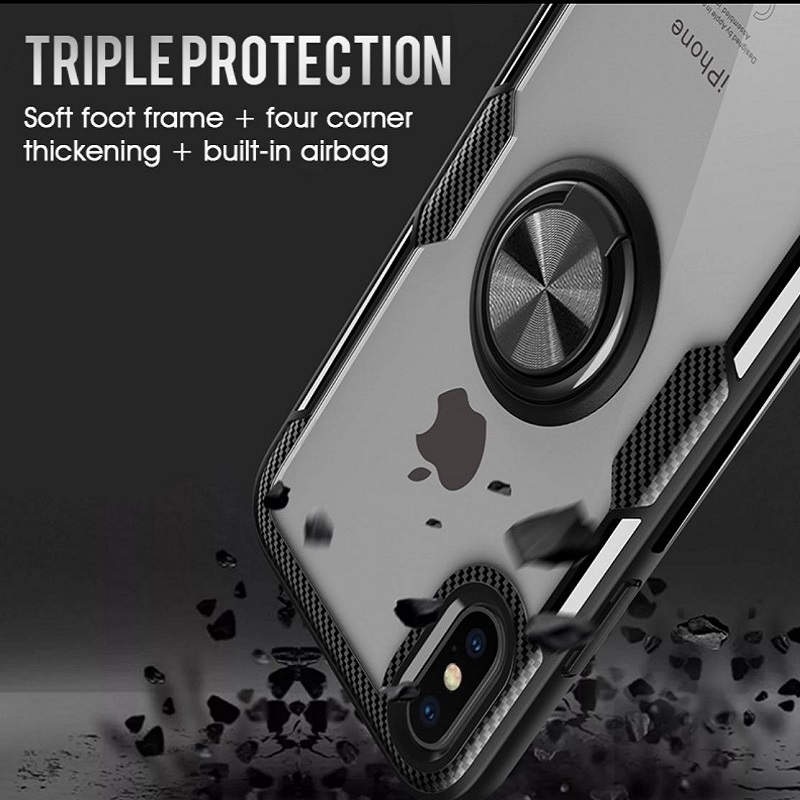Luxury Soft Ring Case For iphone X