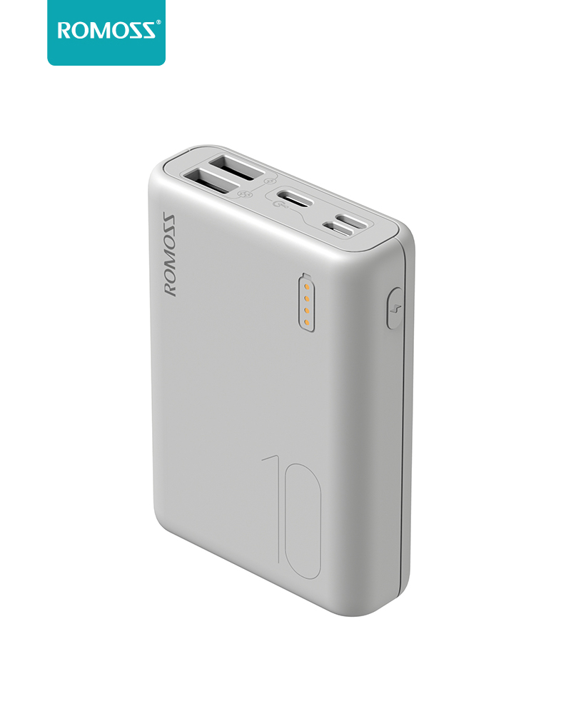 Romoss simple10 power bank 10000mah 3-input and 2 output (new model) small size