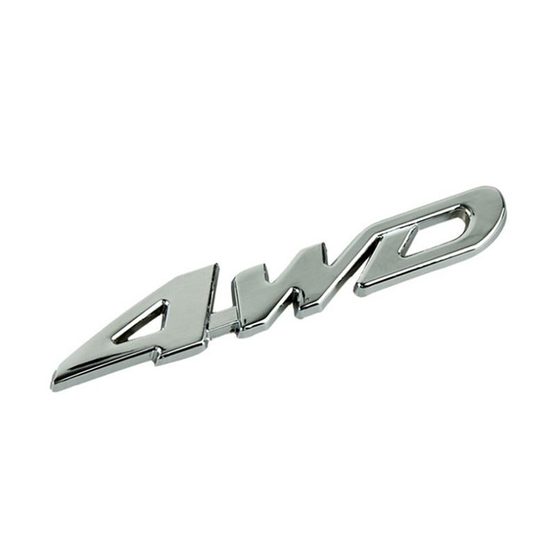 Metal 4WD Displacement Emblem Badge All Wheel Drive Auto car