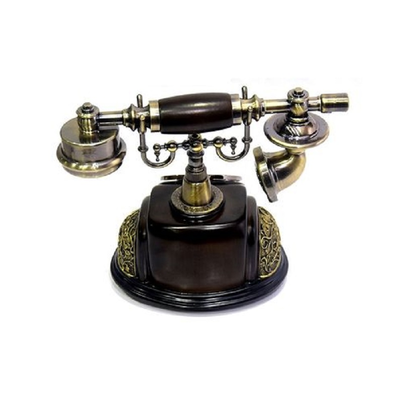CLASSICAL TELEPHONE SET ANTIQUE CHINESE RESIN TELEPHONE SWIVEL DIAL