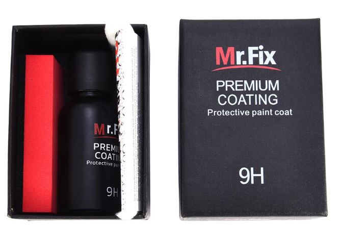 9H Mr Fix Car Premium Coating Super Hydrophobic Glass Coating Car Liquid Ceramic Coat Auto Paint Care Nano-Plated Crystal Crystallized Coating Automotive Auto Detailing Car Polish Anti-Scratch