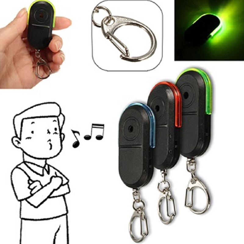 Wireless Anti-Lost Alarm Key Finder Whistle Sound LED Light Key chain ATS-0136