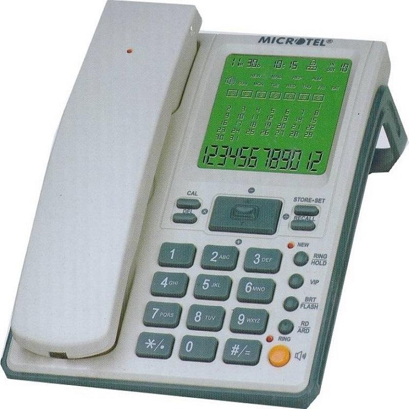 TEL WIRELESS MICROTEL MCT-2009SID Desktop Phone Landline Phone Telephone Set