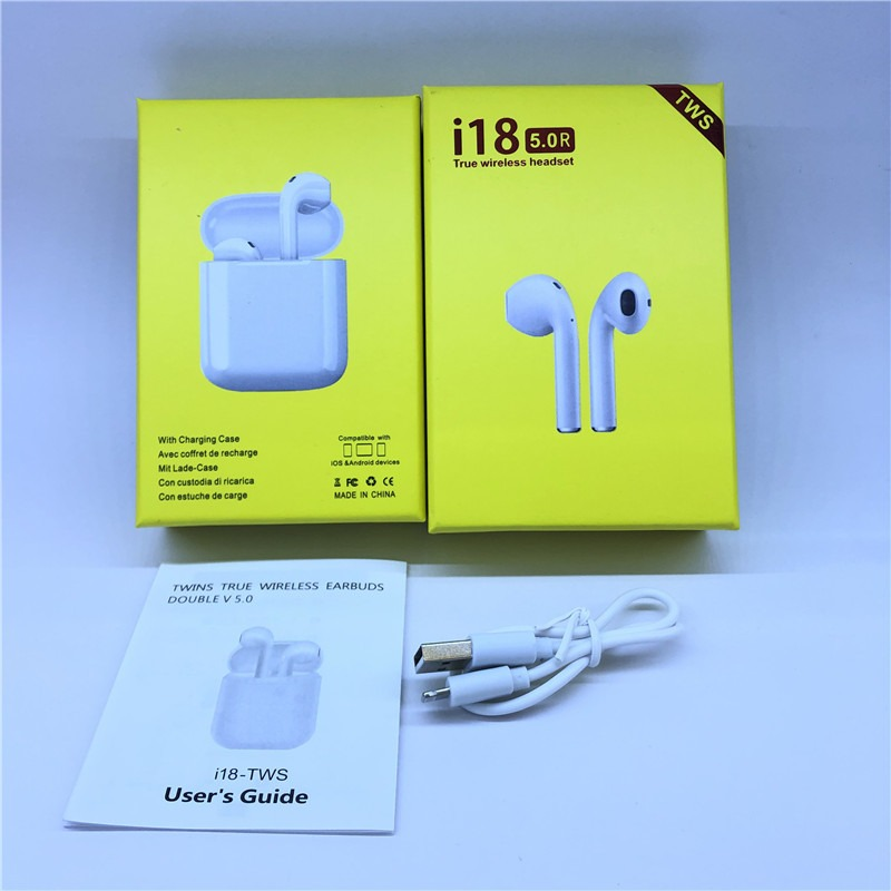 TWIN I18 With POP UP Window Wireless Earphone V5.0