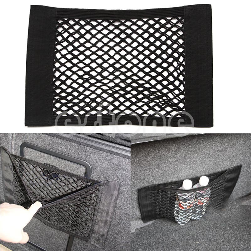 Rear Trunk Back Seat Elastic String Net Mesh Storage Bag Pocket Cage