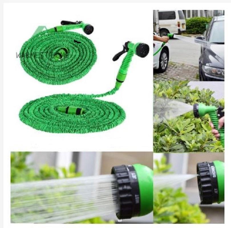 Flexible Expanding Water Hose Tube Spray Nozzle Water Gun Kit 50 FT