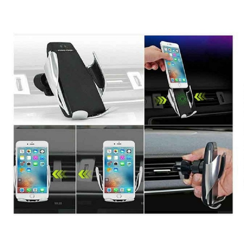 S6 Smart Sensor Car Wireless Charger - Silver