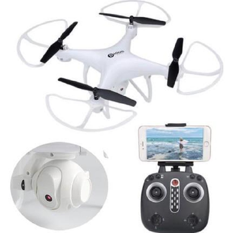Wifi Drone LH-X25 2.4G 4CH 720P FPV Camera With LED Light and 360 Camera View - WHITE