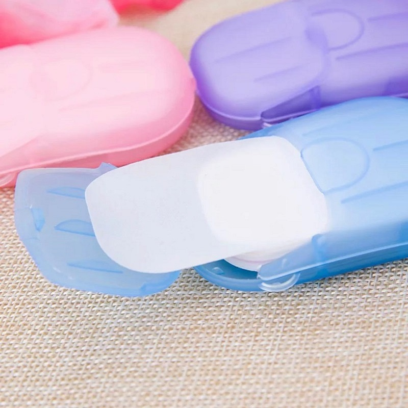Pack of 4 Portable Hand Wash Box Soap Paper Scented Foam