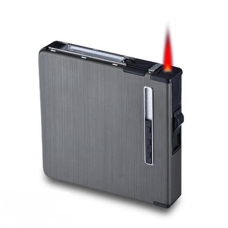 Metal Portable 12 Pcs Storage Box Case With Jet Flame Lighter