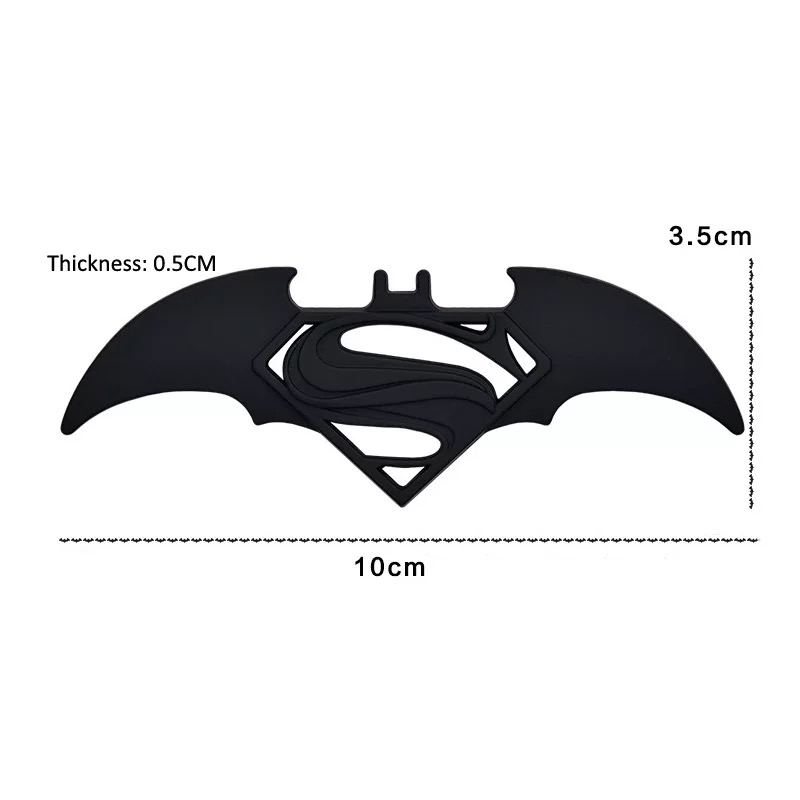 HOT 3D Metal Bat Logo Car Styling Stickers