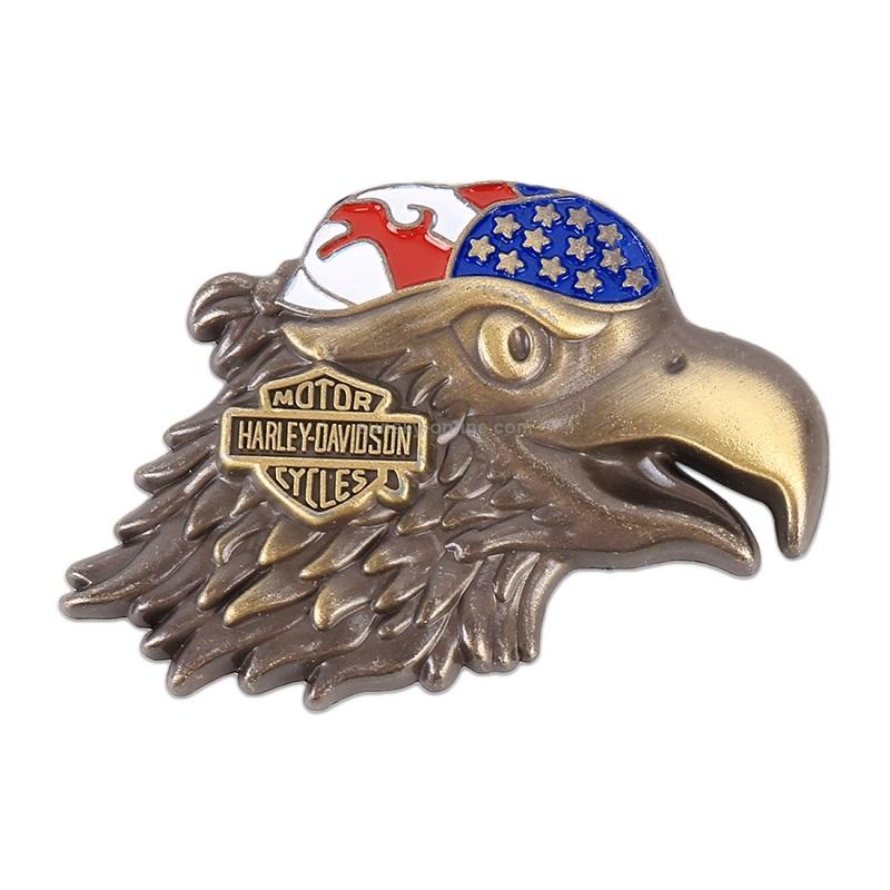 Eagle Head Pattern Car Metal Logo