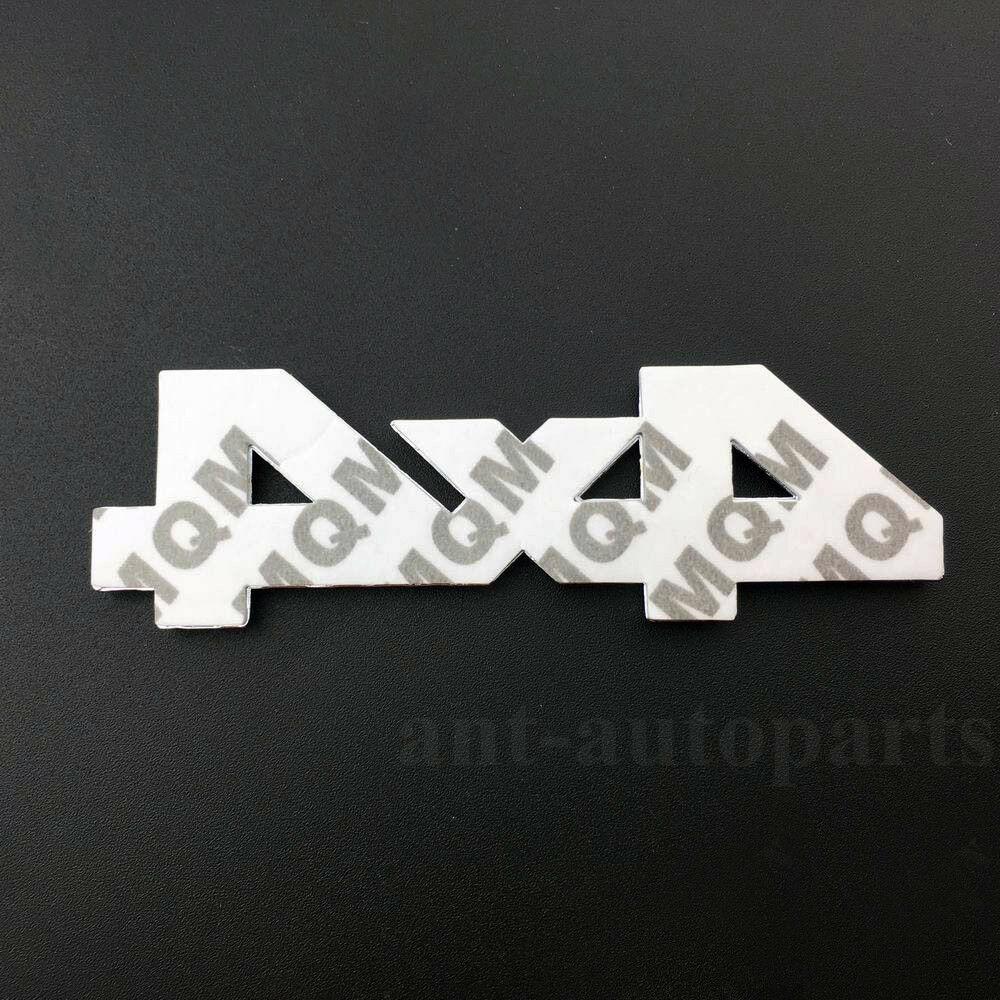 4x4 Metal Logo Car Rear Trunk Decals Sticker Red