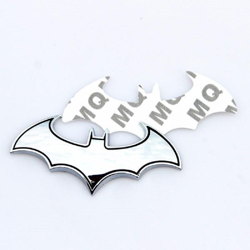 3D Metal Bat Man Logo Car Styling Decoration Sticker