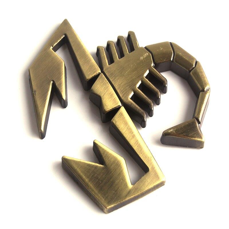 Alloy 3D Scorpio Shield Shape Badge Sticker Car Logo
