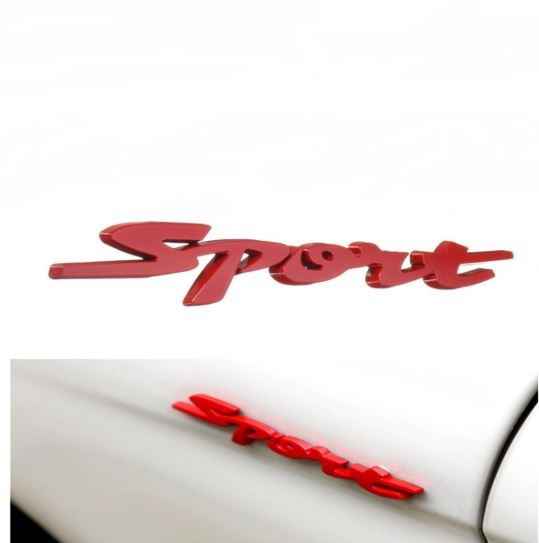 3D CHROME SPORT METAL LOGO CAR