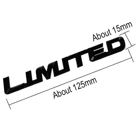 Fashion 3D Metal LIMITED Car Sticker Emblem Badge Logo Universal