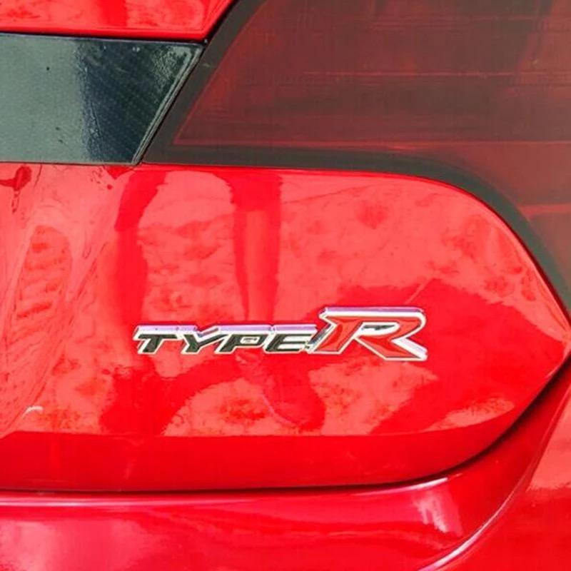 3D Metal TYPE-R Car Sticker Emblem Badge for Universal Cars