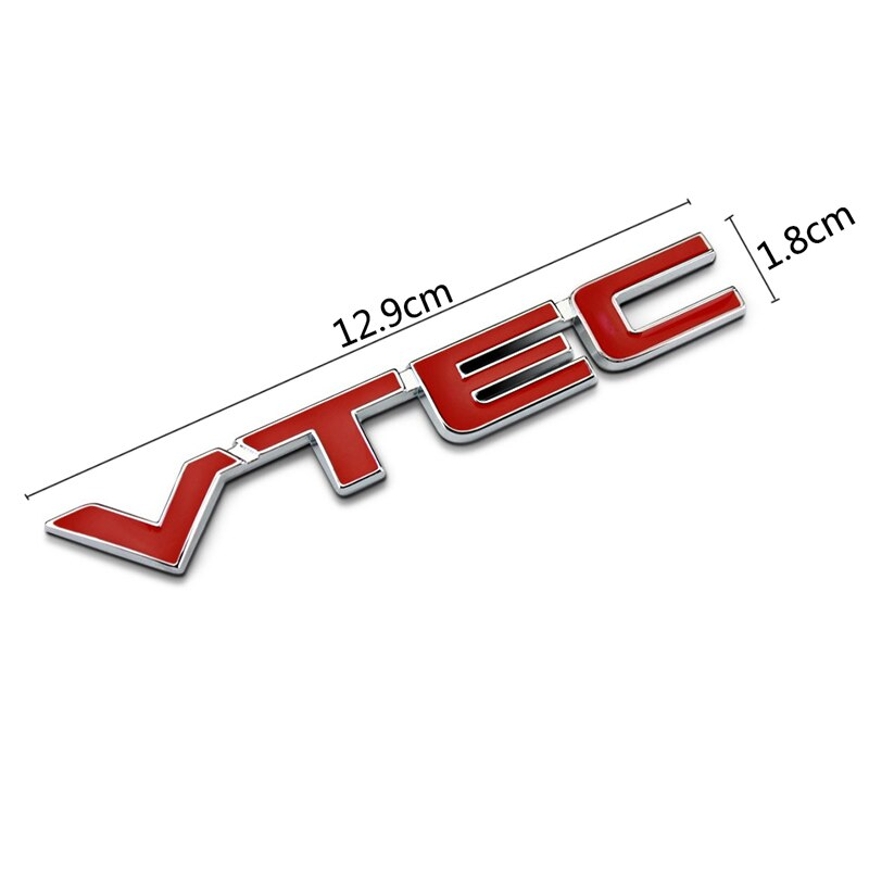Car Metal 3D Sticker Styling Emblem for H.o.n.d.a V.T.E.C Logo