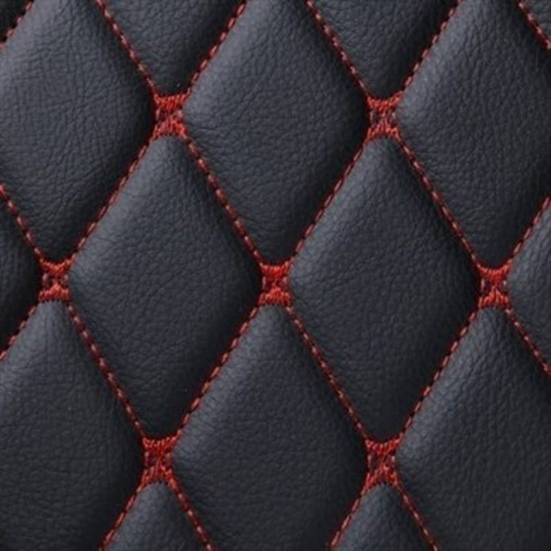 7D Luxury Floor Mats Black and Red Stitching For H.o.n.d.a C.i.v.i.c 2016-2019