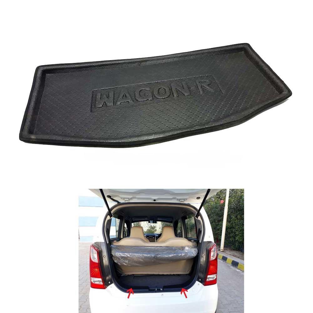 Suzuki Wagon R Foam Trunk Mats Black - Model 2008-2017