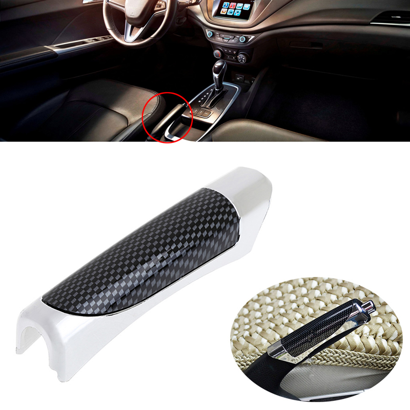 Carbon Fiber Style Hand Brake Protective Handle Cover
