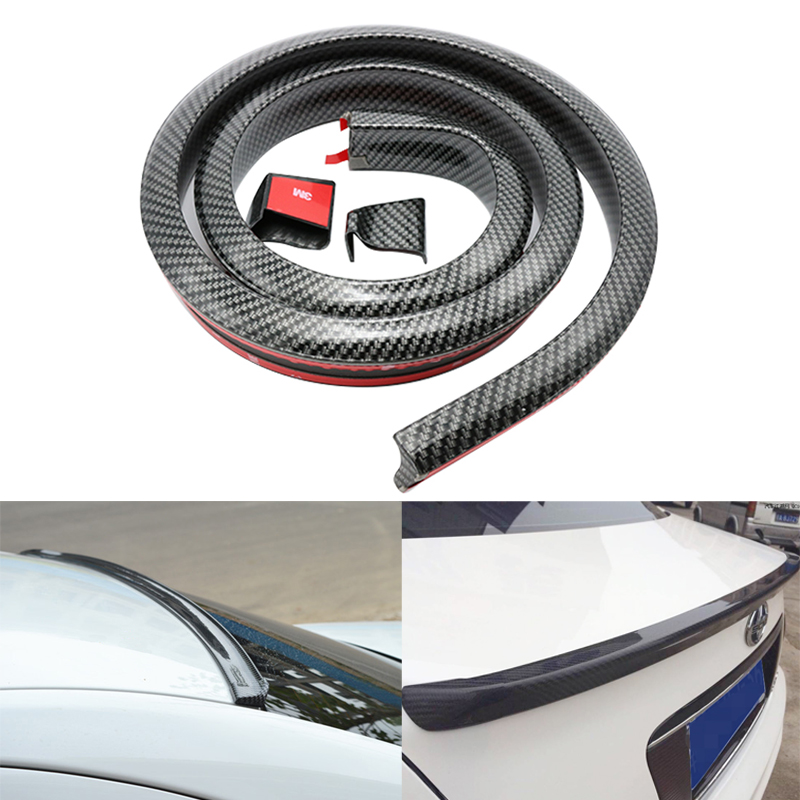 Carbon Fiber Soft Tail Spoiler Car Rear Roof Trunk Wing Lip