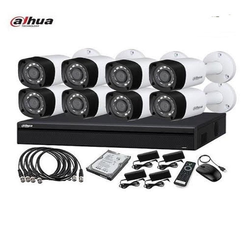 DAHUA CCTV SYSTEM WITH 8 CAMERAS 2 MP