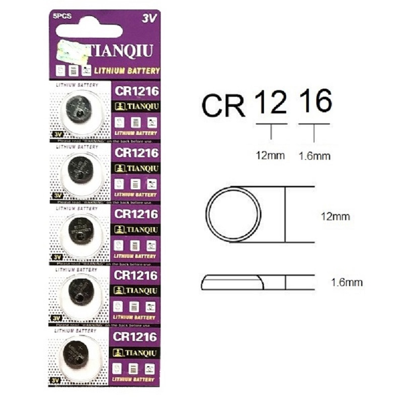 TIANQIU CR1216 Lithium Cell Button Battery