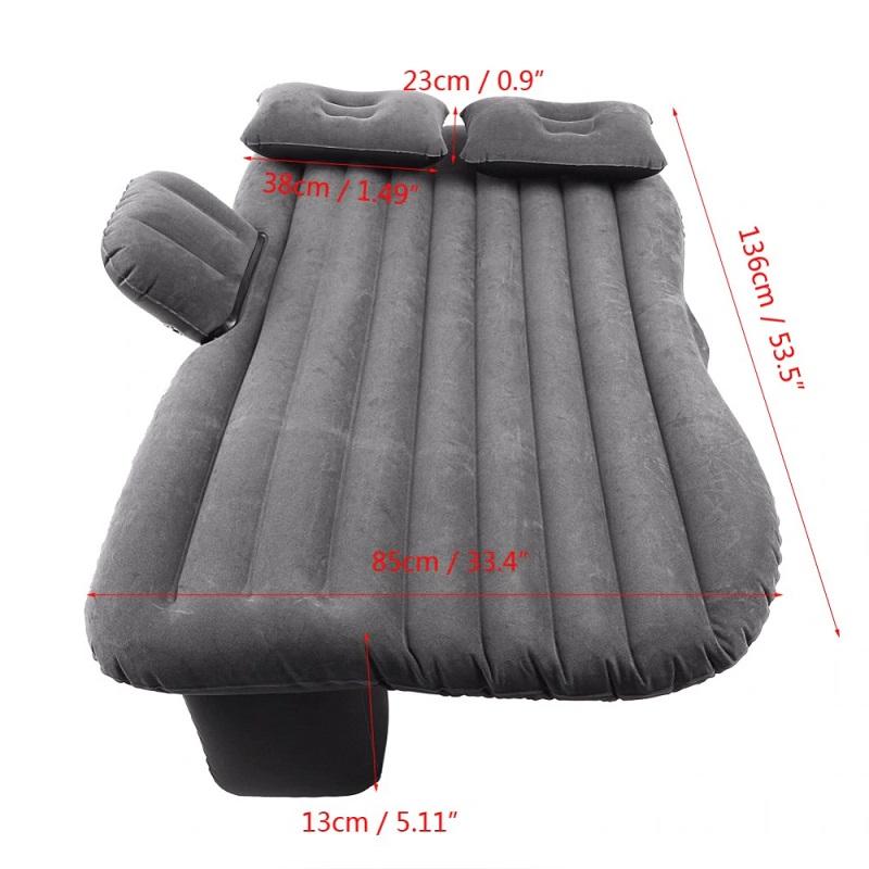 Universal Car Air Mattress Travel Inflatable Car Bed - Black