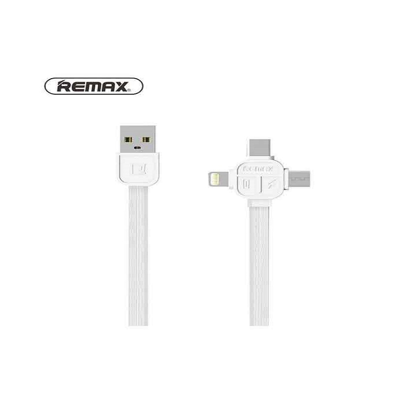 Remax RC-066th Lesu Series 3 in 1 Charging Cable - White