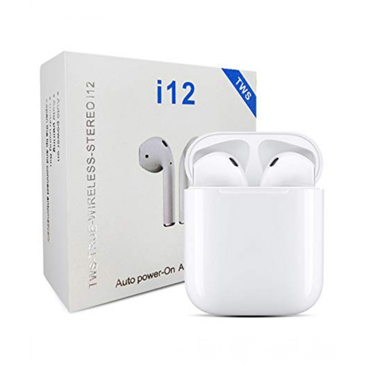 TWIN I12 With Sensors Touch And Window Wireless Earphone V5.0