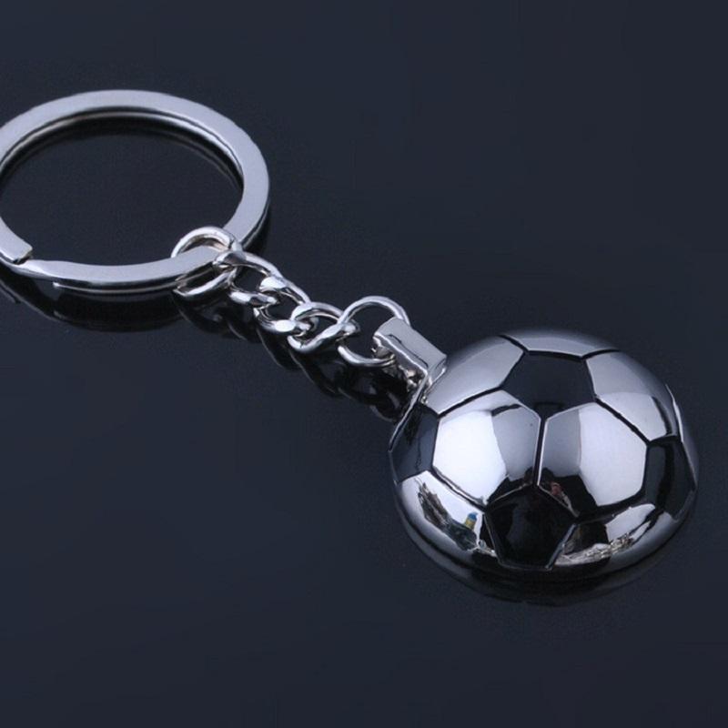Football Key Chains Metal Half Ball Soccer key Chains