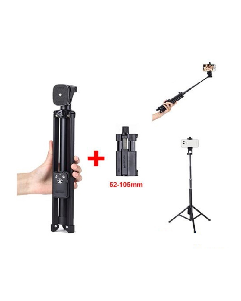Yunteng YT-1688 3in1 Tripod Selfie Stick And Self-Portrait Monopod - Black