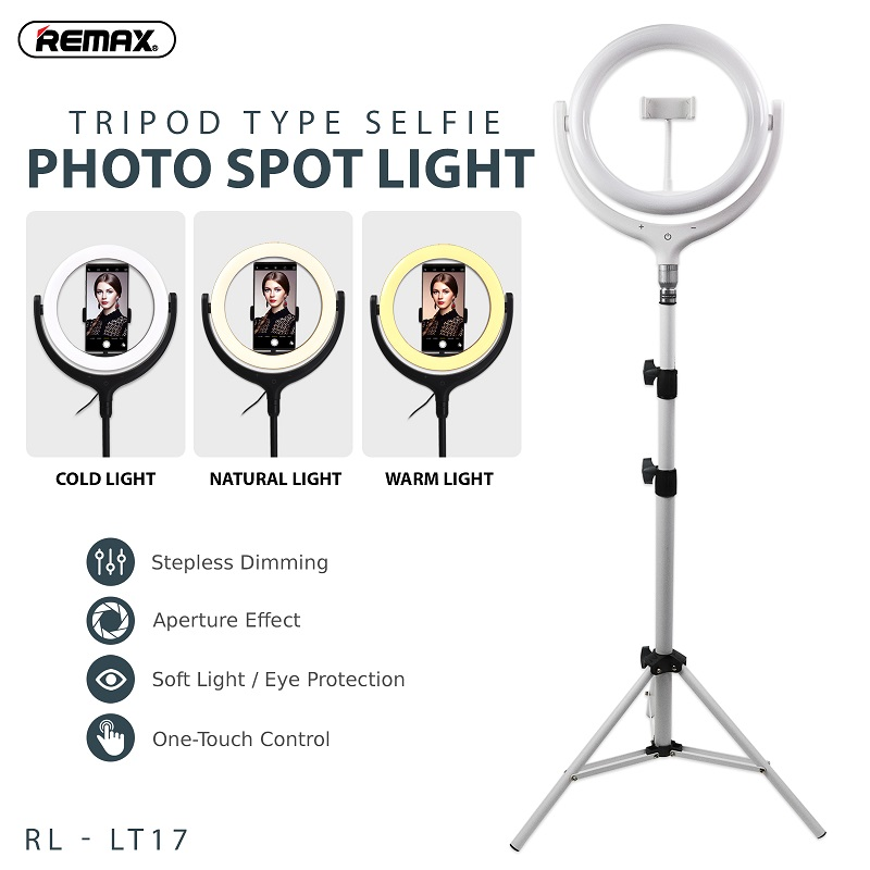 REMAX 26CM WITH STAND LIFE DESKTOP SELFI SPOT LIGHT RL-LT13