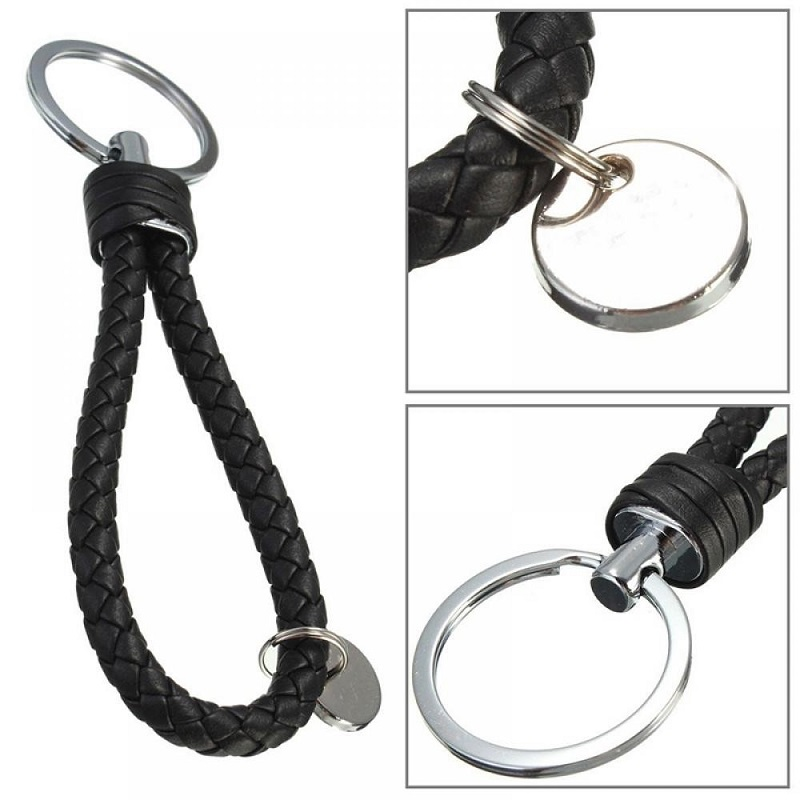 Fashion Leather Key Chain Ring