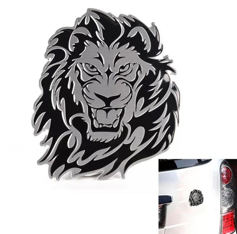 Metal Logo Waterproof 3D Lion Eagle Tiger Shape Design Emblem Badge