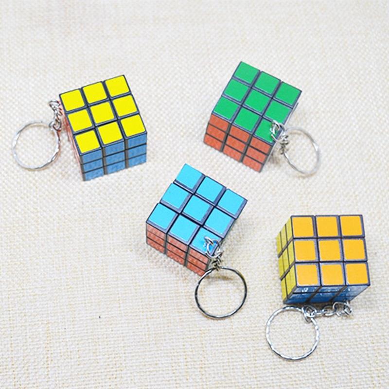 Small Magic Cube Pendant Key Circle Puzzle Package Hanging Key Pendant