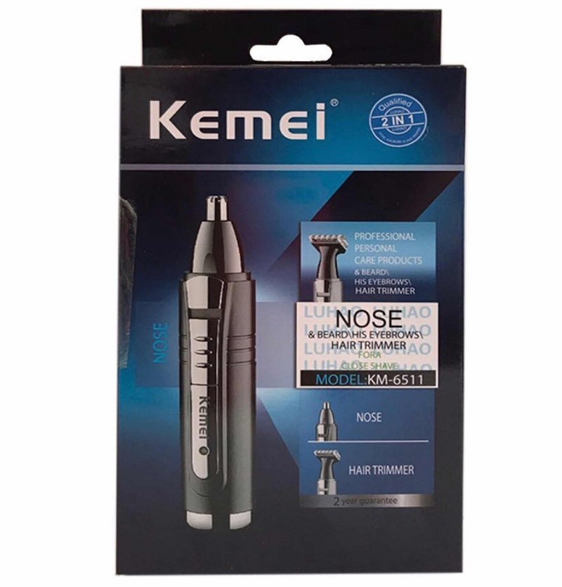 Kemei KM - 6511 2 in 1 Rechargeable Multifunctional Nose & Hair Trimmer
