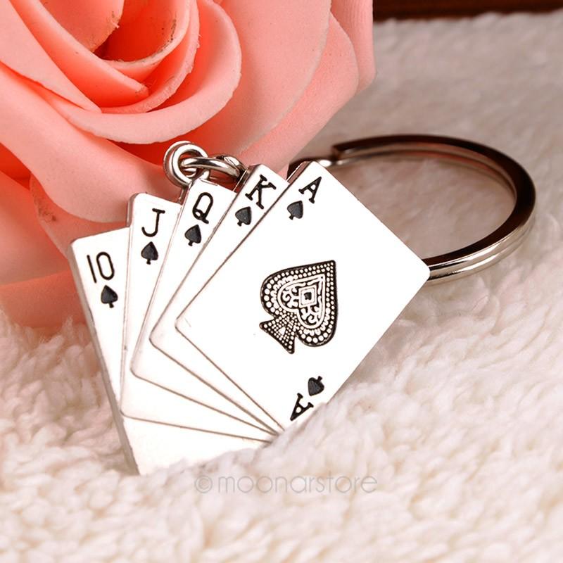 Fashion Creative Stylish Poker Key Chain