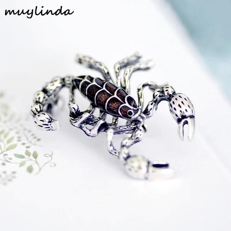 Fashion Scorpion Metal Mini Suit Brooch Pin