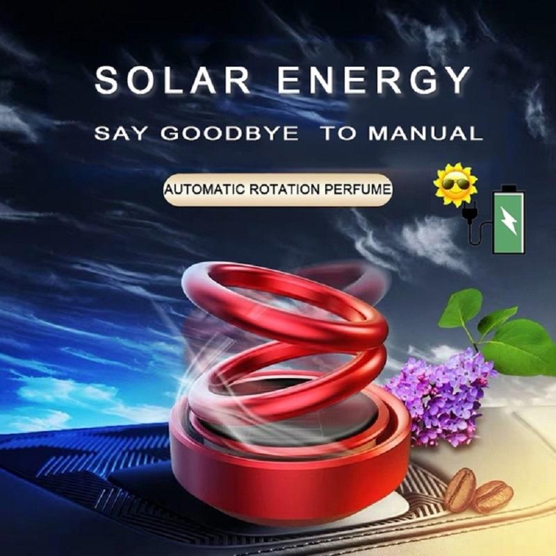 Auto Car Double Ring Rotating Solar Energy Car Air Freshener