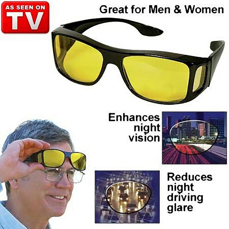 Night Vision + Day Vision HD Pack OF 2 Wrap Around Glasses