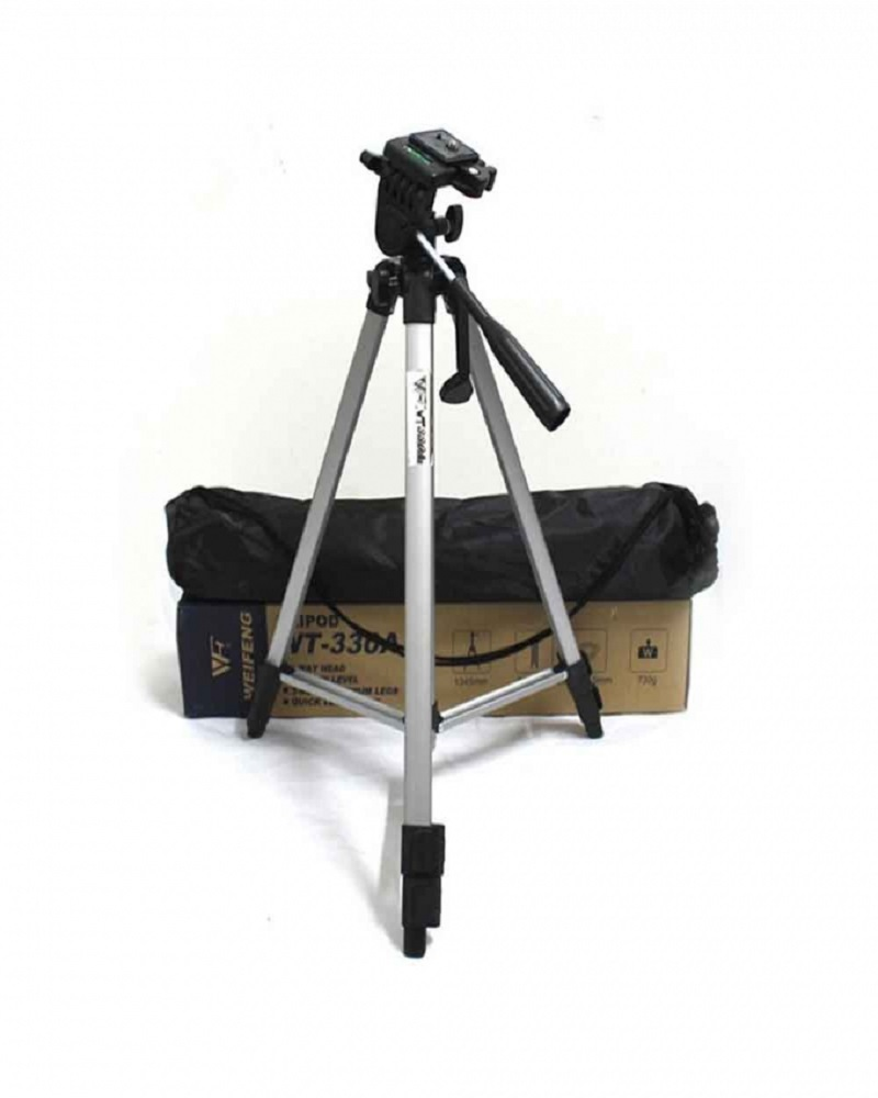 Tefeng TF-330A Professional Tripod Stand Aluminum - Silver