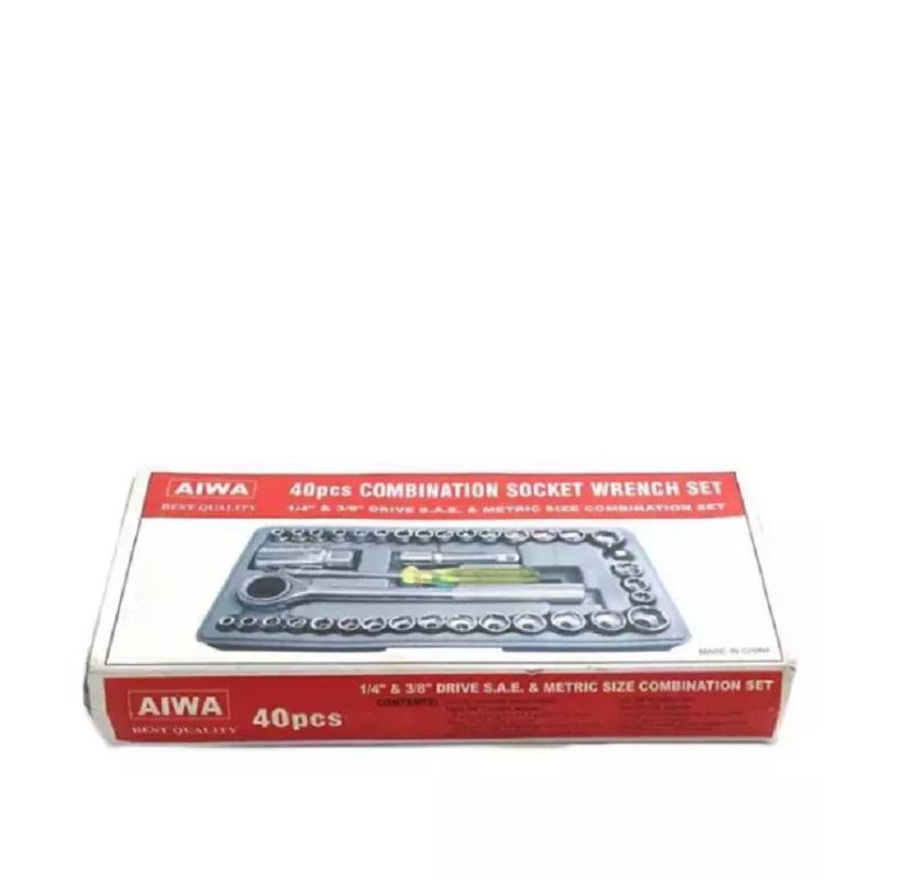 Original Aiwa 40 Pcs Combination Socket Wrench Set Tool Kit